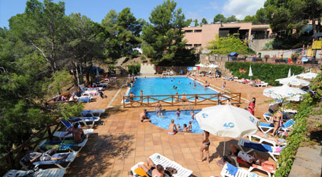 camping avec piscine cala llevado espagne