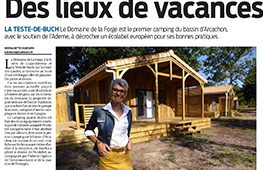 article de journal sur camping grenette